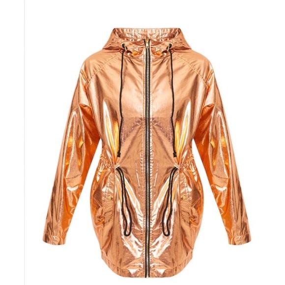 large assortment pretty nice low price sale Jenny Gold Metallic Rain Mac